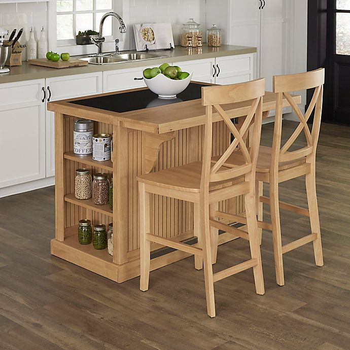 Home Styles 3-Piece Kitchen Island With Granite And Stools