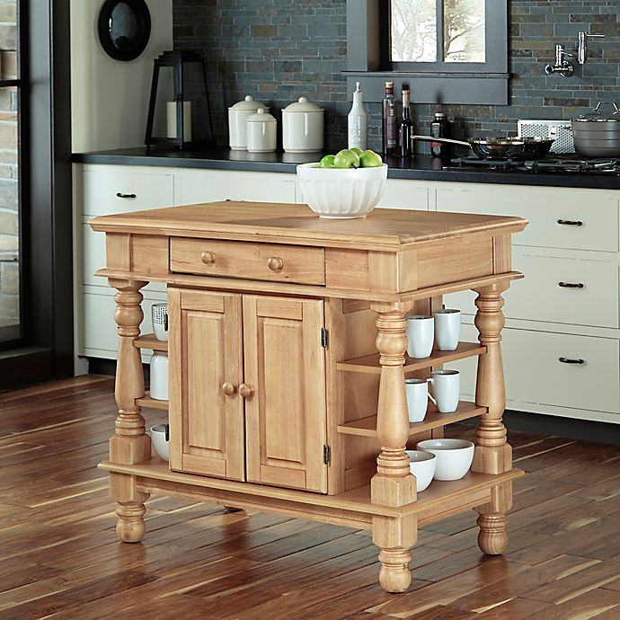 Home Styles Americana Natural Kitchen Island In Maple