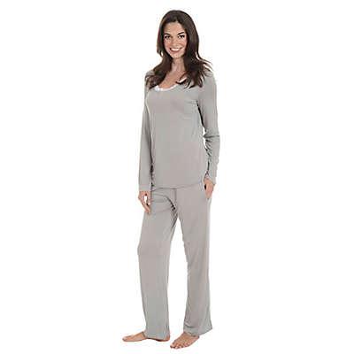 Q-T Intimates™ 2-Piece Lace Trim Pajama Set