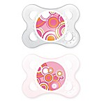 MAM Trends Age 0-6 Months Orthodontic Pacifier in Pink (Set of 2)