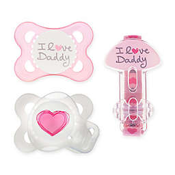 MAM Love & Affection Age 0-6 Months I Love Daddy Pacifiers and Clip Set