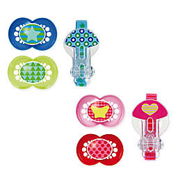 MAM Trends Age 6M+ Pacifiers and Clip Set
