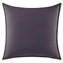 Vera Wang™ Floral Jacquard European Pillow Sham in Dark Purple