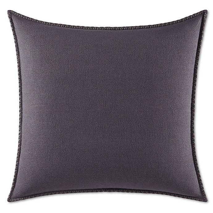 Vera Wang Floral Jacquard European Pillow Sham In Dark