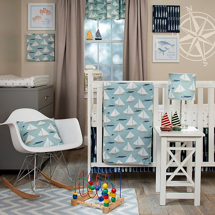 Lil Sailboat 3 Piece Crib Bedding Set