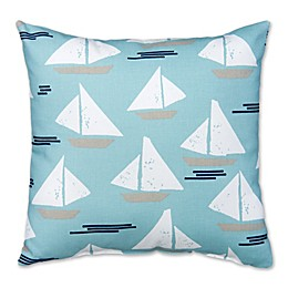 Glenna Jean Lil Sailboat Sailboat Square Throw Pillow in Blue