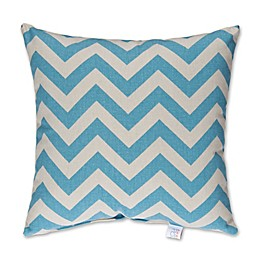 Glenna Jean Lil Sailboat Chevron Square Throw Pillow in Blue/White