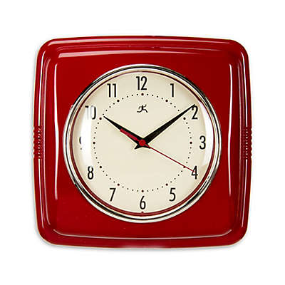 Glenna Jean Lil Sailboat Retro Diner Wall Clock in Red