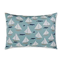 Glenna Jean Lil Sailboat Large Pillow Sham in Blue