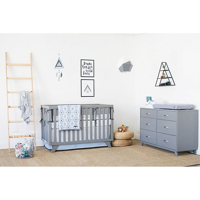 Alternate image 1 for Petunia Pickle Bottom® Southwest Skies Crib Bedding Collection in Grey/Blue