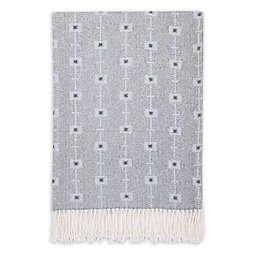 Petunia Pickle Bottom® Southwest Skies Fringed Blanket in Grey/Blue