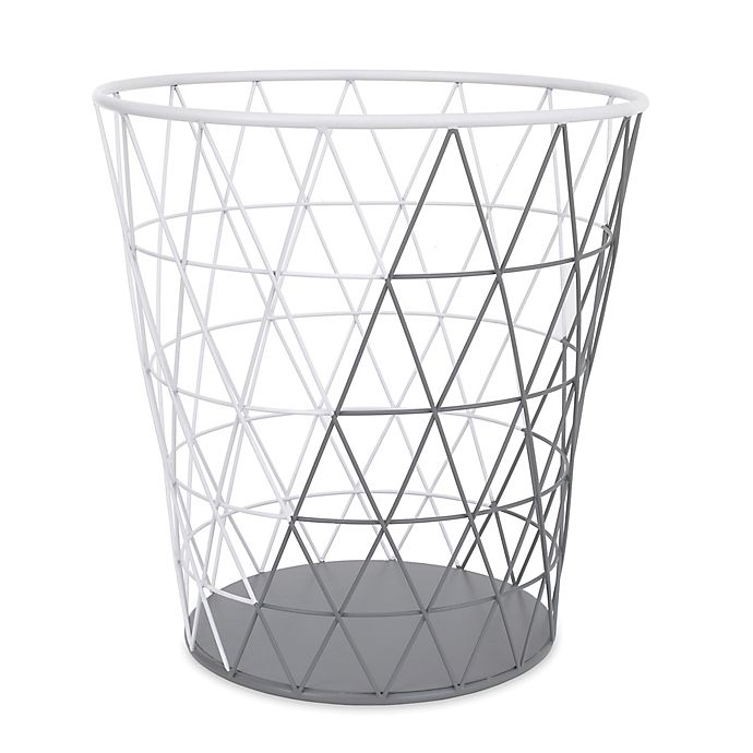 Alternate image 1 for Petunia Pickle Bottom® Southwest Skies Wire Hamper in Grey/White
