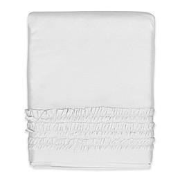 Hello Spud Emma Ruffle Crib Skirt in White