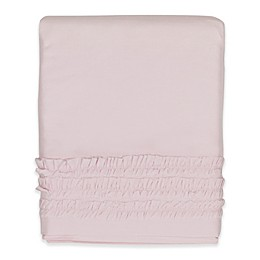 Hello Spud Emma Ruffle Crib Skirt in Pink