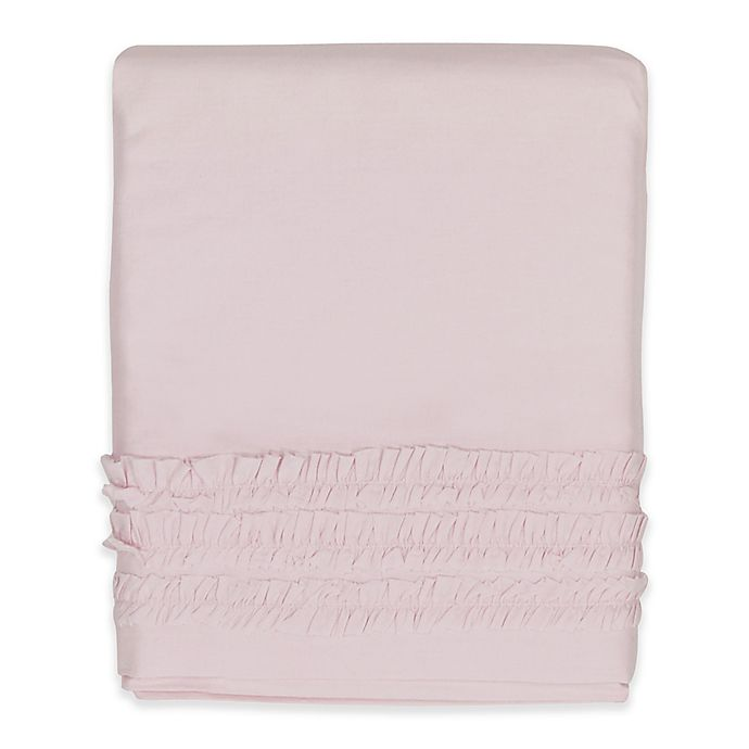 Alternate image 1 for Hello Spud Emma Ruffle Crib Skirt in Pink