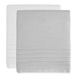 Hello Spud Shore Lines Pintuck Crib Skirt