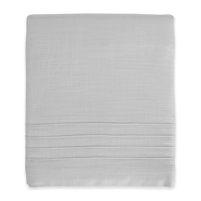 Alternate image 1 for Hello Spud Shore Lines Pintuck Crib Skirt in Grey