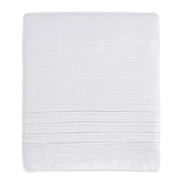 Hello Spud Shore Lines Pintuck Crib Skirt in White