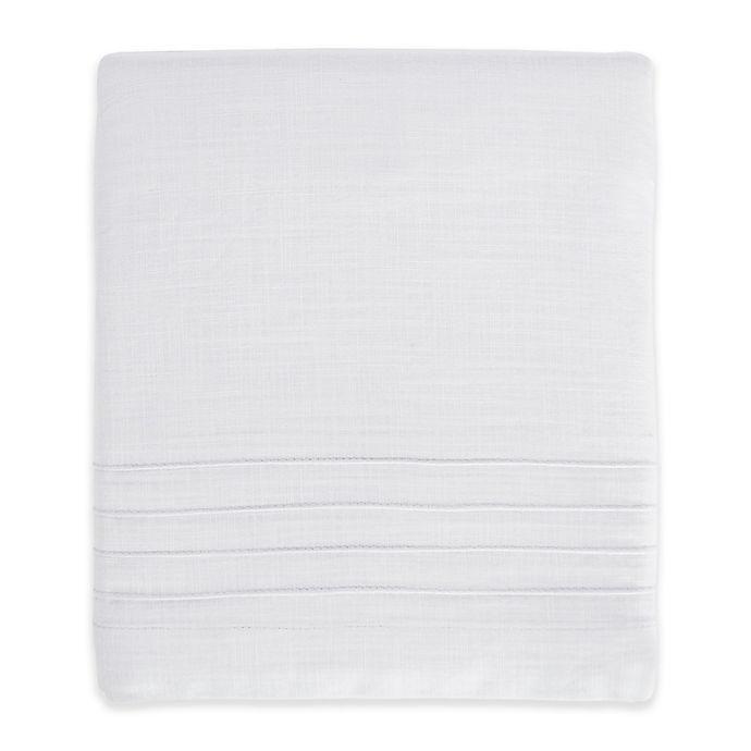 Alternate image 1 for Hello Spud Shore Lines Pintuck Crib Skirt in White
