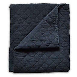 Hello Spud Diamond Stonewash Quilt in Navy