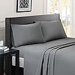 Madison Park Essentials Micro Splendor Queen Sheet Set in Grey