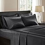 Madison Park Essentials Satin King Sheet Set in Black