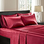 Madison Park Essentials Satin Queen Sheet Set in Red