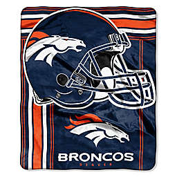 Nfl Denver Broncos Royal Plush Raschel Throw