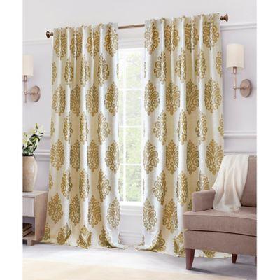 Hillston Lined Back Tab Window Curtain Panel Bed Bath