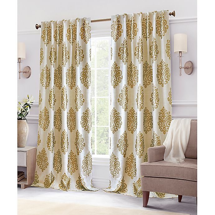 Alternate image 1 for Hillston Lined Back Tab Window Curtain Panel