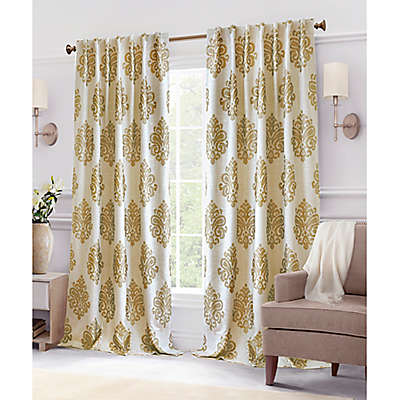Hillston Lined Back Tab Window Curtain Panel