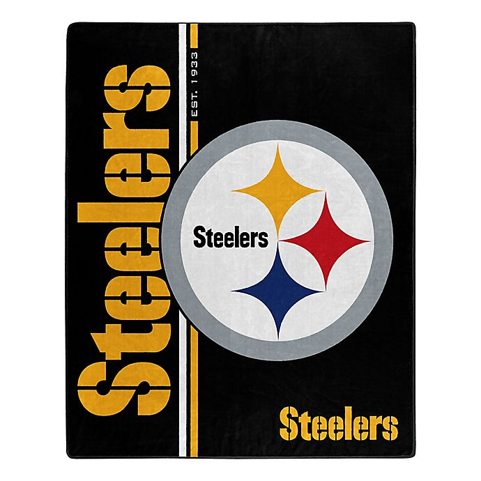 Alternate image 1 for NFL Pittsburgh Steelers Royal Plush Raschel Throw