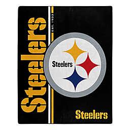 NFL Pittsburgh Steelers Royal Plush Raschel Throw