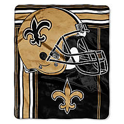 NFL New Orleans Saints Royal Plush Raschel Throw