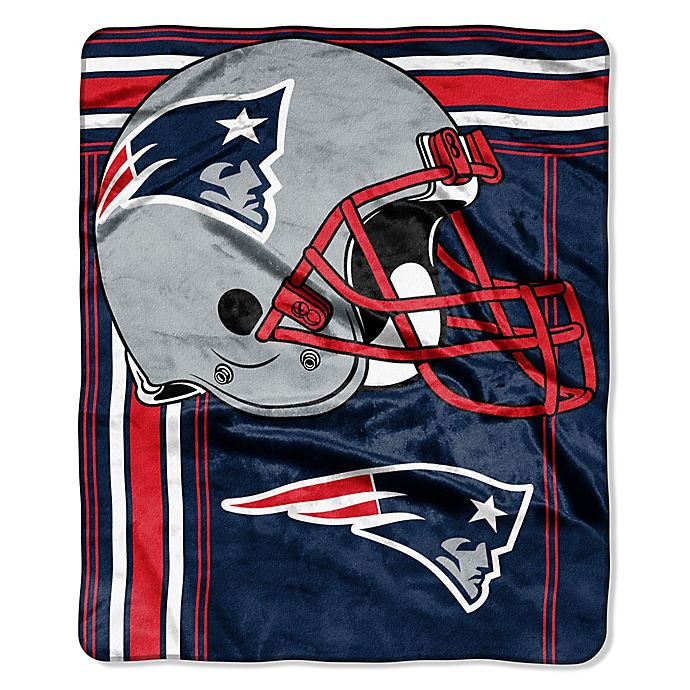 506f0430 NFL New England Patriots Royal Plush Raschel Throw | Bed Bath & Beyond