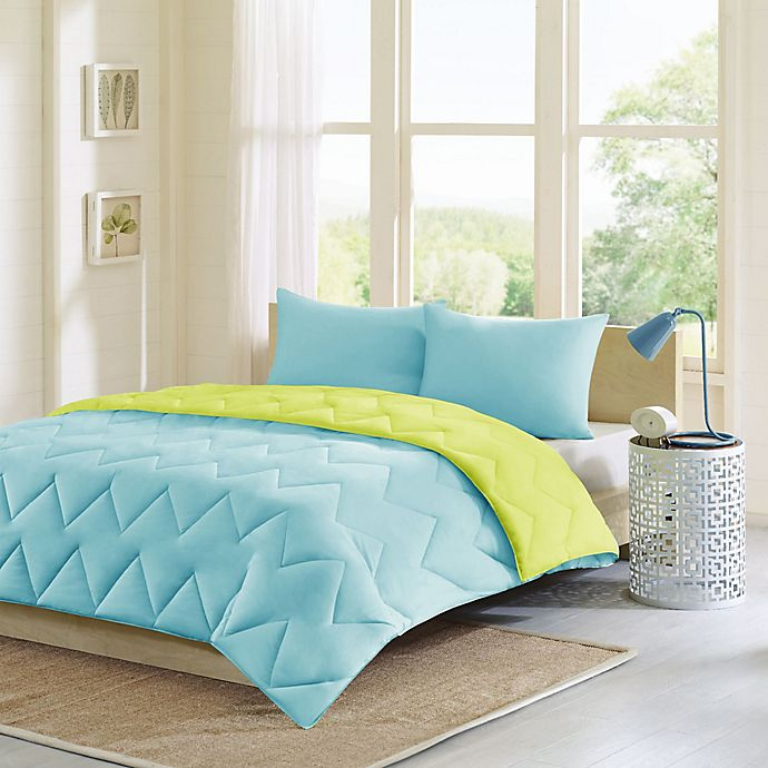 Alternate image 1 for Intelligent Design Trixie 2-Piece Twin/Twin XL Comforter Set in Aqua