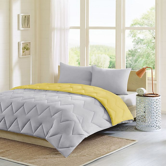 Alternate image 1 for Intelligent Design Trixie 3-Piece King/California King Comforter Set in Grey