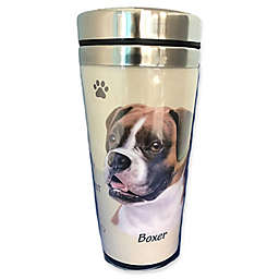 E&S Pets 16 oz. Boxer Uncropped Stainless Steel Travel Mug