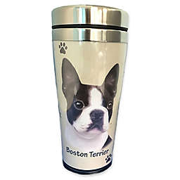 E&S Pets 16 oz. Boston Terrier Stainless Steel Travel Mug