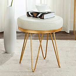 Safavieh Jenine Round Bench in Cream