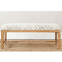 Safavieh Zambia Bench in Grey Zebra