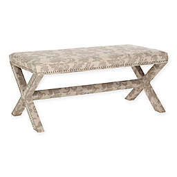 Safavieh Melanie Extended Bench in Taupe