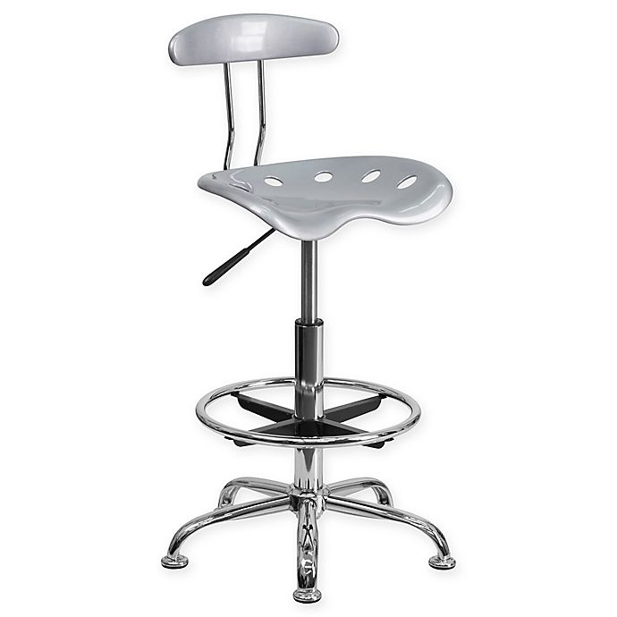 Alternate image 1 for Flash Furniture Drafting Stool with Tractor Seat