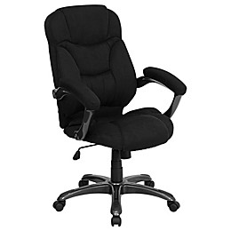 Flash Furniture High Back Microfiber Executive Office Chair in Black
