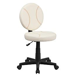 Flash Furniture Baseball Office Chair in Cream