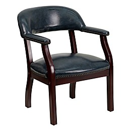 Flash Furniture Luxurious Vinyl Conference Chair in Navy