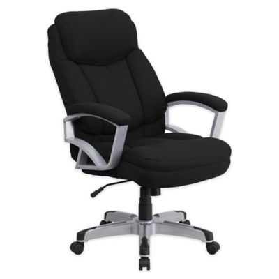 Flash Furniture Big u0026 Tall Executive Office Chair in Black | Bed Bath u0026 Beyond  sc 1 st  Bed Bath u0026 Beyond : office chair covers - lorbestier.org