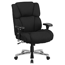 Flash Furniture Fabric Executive Seat with Lumbar Support Knob in Black