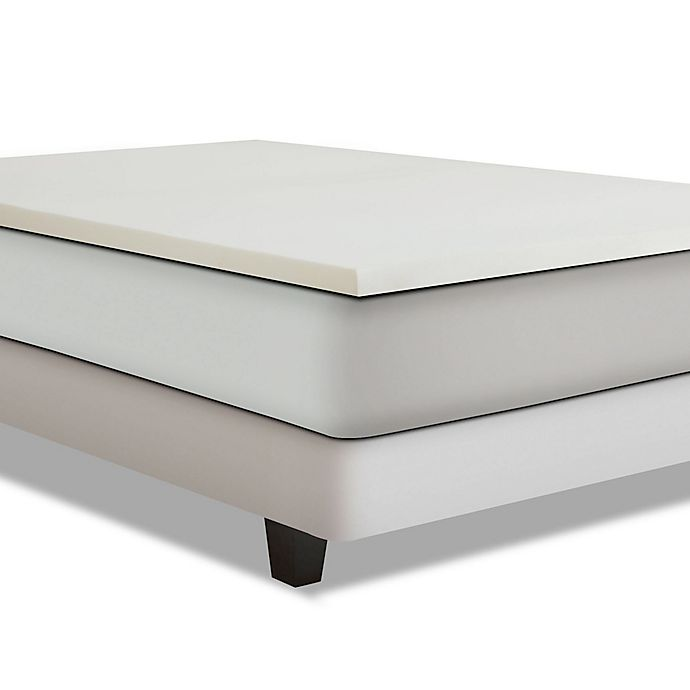 Alternate image 1 for Independent Sleep Twin-Size 3-Inch Combination Memory Foam Mattress Topper