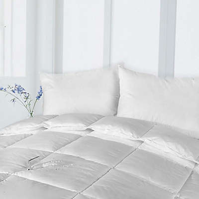 Clean Living Cotton Stain and Water Resistant Down Alternative Comforter in White